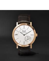 Reloj de cuero en marrón oscuro de Piaget