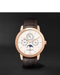 Reloj de cuero en marrón oscuro de Vacheron Constantin