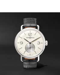 Reloj de cuero gris de Bell & Ross
