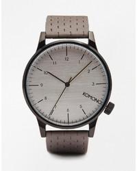 Reloj de cuero gris de Komono