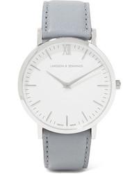 Reloj de cuero gris de Larsson & Jennings