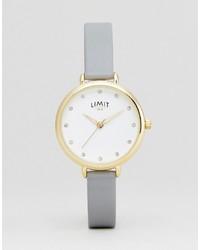 Reloj de cuero gris de Limit
