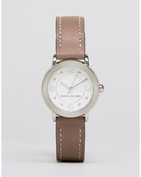 Reloj de cuero gris de Marc Jacobs