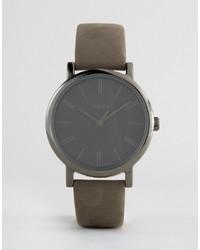 Reloj de cuero gris de Timex