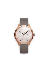 Reloj de cuero gris de Uniform Wares