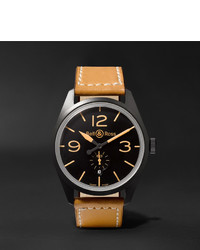 Reloj de cuero marrón claro de Bell & Ross
