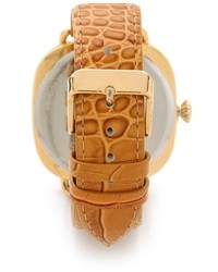Reloj de cuero marrón claro de La Mer