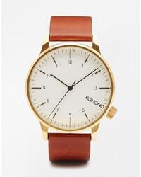 Reloj de cuero marrón claro de Komono