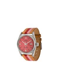 Reloj de cuero marrón claro de La Californienne