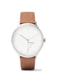 Reloj de cuero marrón claro de Mondaine