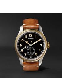 Reloj de cuero marrón claro de Montblanc