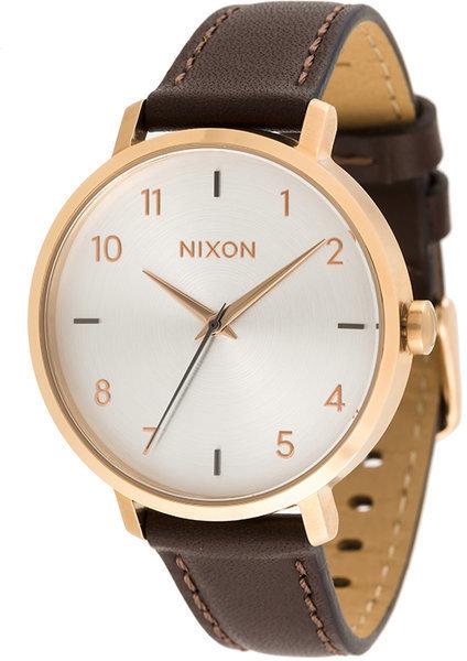 Reloj de cuero marrón claro de Nixon