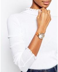 Reloj de cuero marrón claro