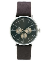 Reloj de Cuero Marrón Oscuro de Asos