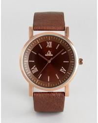 Reloj de cuero marrón de Asos