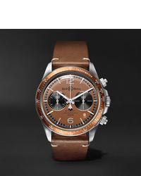 Reloj de cuero marrón de Bell & Ross