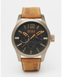 Reloj de cuero marrón de Boss Orange