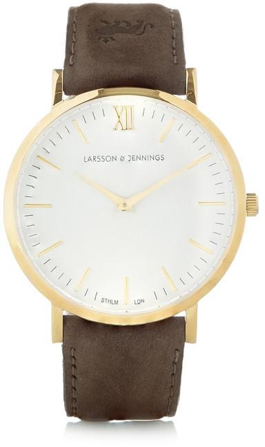Reloj de cuero marrón de Larsson & Jennings