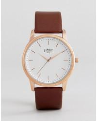 Reloj de cuero marrón de Limit