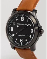 Reloj de cuero marrón de Michael Kors