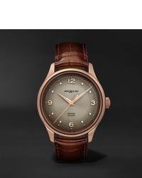 Reloj de cuero marrón de Montblanc