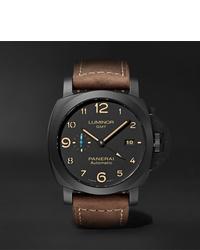 Reloj de cuero marrón de Panerai