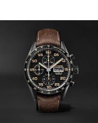 Reloj de cuero marrón de Tag Heuer