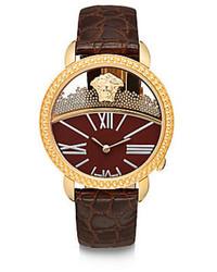 Reloj de Cuero Marrón de Versace