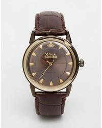 Reloj de cuero marrón de Vivienne Westwood