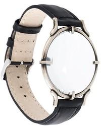 Reloj de cuero negro de Ann Demeulemeester