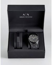 Reloj de cuero negro de Armani Exchange