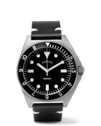 Reloj de cuero negro de Bamford Watch Department