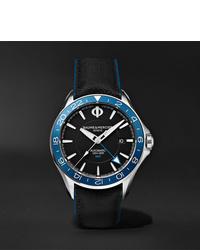 Reloj de cuero negro de Baume & Mercier
