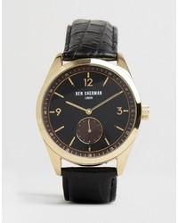 Reloj de Cuero Negro de Ben Sherman