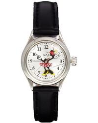 Reloj de Cuero Negro de Disney