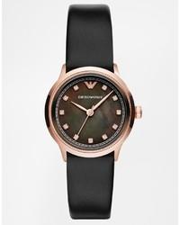 Reloj de cuero negro de Emporio Armani