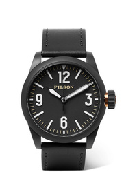 Reloj de cuero negro de Filson