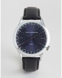 Reloj de cuero negro de French Connection