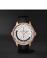 Reloj de cuero negro de Girard Perregaux