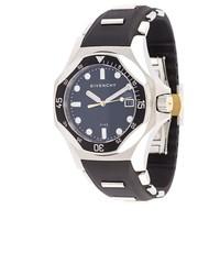 Reloj de Cuero Negro de Givenchy