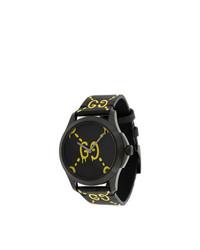 Reloj de Cuero Negro de Gucci