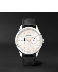 Reloj de cuero negro de Montblanc