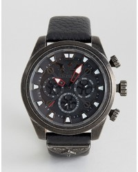 Reloj de Cuero Negro de Police