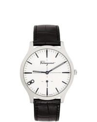 Reloj de cuero negro de Salvatore Ferragamo