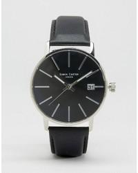 Reloj de cuero negro de Simon Carter
