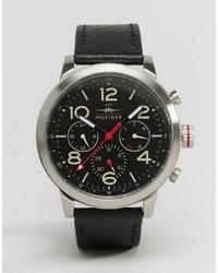 Reloj de cuero negro de Tommy Hilfiger
