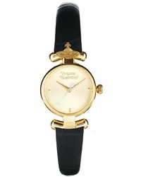 Reloj de Cuero Negro de Vivienne Westwood