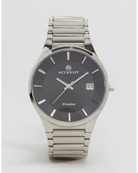 Reloj de cuero plateado