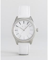 Reloj de cuero plateado de Armani Exchange
