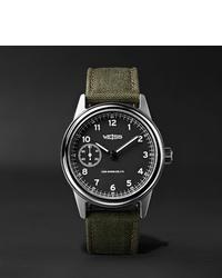 Reloj de cuero verde oliva de Weiss
